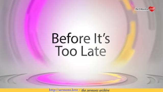 David Jeremiah - Before It's Too Late