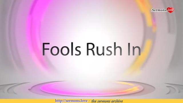 David Jeremiah - Fools Rush In