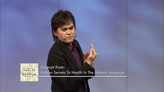 #149 Joseph Prince - Hidden Secrets To Health In The Hebrew Language
